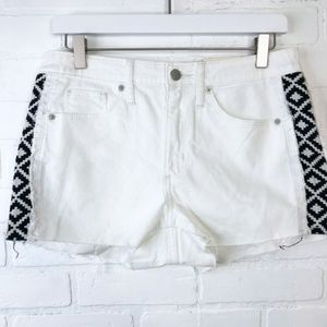 Universal Thread High Rise Shorties Shorts White